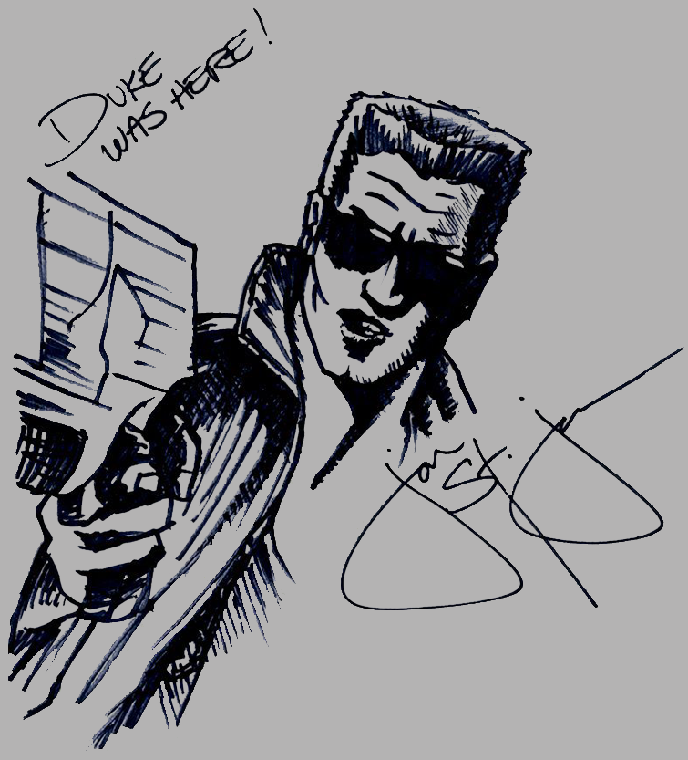 Duke Was Here! Sketch by Danny Kang